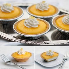 no bake mini  lemon pie