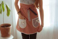 Image of Delantal falda a cuadros