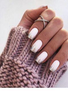 15 chic white manicure ideas for winter - 15 chic white manicure ideas for winter - White Shellac Nails, White Manicure, Cute Acrylic Nails, Nail Pink, Orange Nail, Edge Nails, White Nail Designs, Gel Nail Designs, Nails Design