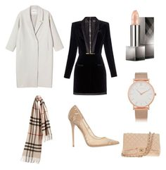 """""""Untitled #39"""" by eva-skok on Polyvore featuring Burberry, Larsson & Jennings, Monki, Balmain, Chanel and Jimmy Choo"""