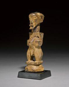 Songye Standing Figure, Uruwa Region, Democratic Republic of the Congo Republic Of The Congo, African Art, Bookends, Lion Sculpture, Auction, Ocean, Fine Art, Statue, Antiques