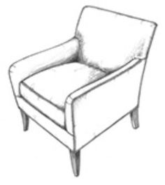 Superior HF 743   Jenny Host Back View | Hallman Furniture