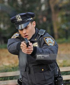 """Will Estes filming on location for """"Blue Bloods"""" on November Blue Bloods Jamie, Blue Bloods Tv Show, Police Uniforms, Police Officer, Police Tv Shows, Jamie Reagan, New York City, Cops Tv, Hot Cops"""