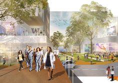 University of Washington Campus Master Plan – Sasaki Tourism Development, Physical Development, Reston Town Center, Strategic Goals, Public Realm, Green Street, Corporate Interiors, Pedestrian Bridge, University Of Washington