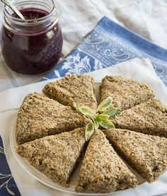 Raw Lemon Scones with Blackberry Sage Jam —Raw Food Rawmazing Raw Food