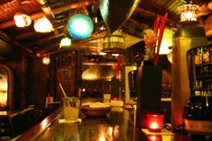 Trader Vic's, Munich, Germany (restaurant) -- Tiki Central Tikki Bar, Munich Germany, Luau, Basketball, Restaurant, Culture, Home Decor, Decoration Home, Room Decor