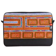 "Vietnam 6 Dep Sleeve for MacBook Pro 13"" - Socially Responsible Laptop Bags by Ethnotek - Direct Trade - Fair Trade - Social Entrepreneurs - Handmade Textiles - Global Artisans - Vietnamese Textiles - Travel Sleeve - Wanderlust - MacBook - Laptop Case - www.EthnotekBags.com"