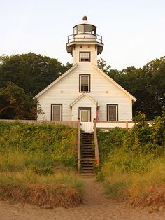 Mission Point lighthouse in Traverse City, MI.