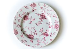 Rosey Red Plates, Tableware, Red, Vintage, Licence Plates, Dishes, Dinnerware, Plate, Tablewares