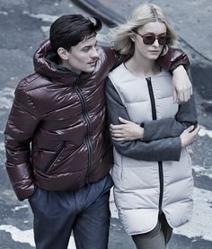 ECOALF | VAIL DOWN JACKET MAN BURGUNDY - Made from recycled fabrics