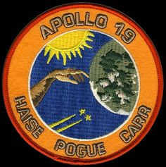 The would've been Apollo 19 mission patch. Fred Haise was due to finally get to walk on the moon.