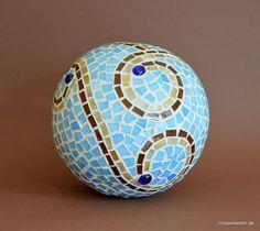 Rosenkugel blau braun beige 16 cm