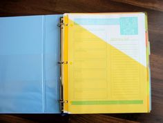 2014 Printable Day Planner- meal planning too!