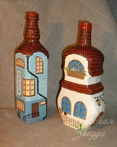 Bottle Art, Bottle Crafts, Lily, Painting, Home Decor, Construction, Interiors, Club, Architecture