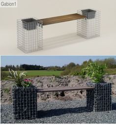 gabion seat and garden planter http://www.gabion1.co.uk