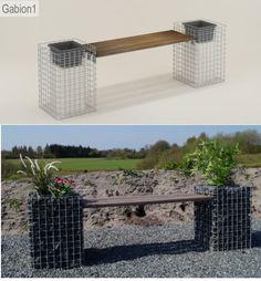gabion seat and garden planter http://www.gabion1.co.uk