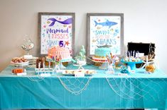 """Pirate sign """"Welcome Pirates"""" is a 8x10 sign that can be framed on your cake table or front door or on your wall! Fun for your birthday party with pretty watercolor elements and pirate themed boats and islands and swords. Can also be used for wall art 😊 Combined Birthday Parties, Sibling Birthday Parties, Joint Birthday Parties, Birthday Party Themes, Birthday Ideas, Kid Parties, Pirate Birthday, Mermaid Birthday, Girl Birthday"""