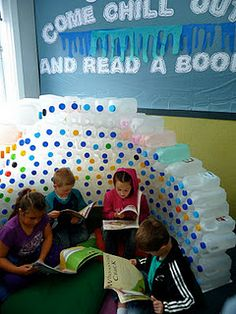 """Milk bottle igloo - I am going to use """"penguins"""" as my classroom theme next year and build this igloo.  I have been dying to do it for 4 or 5 years now!"""