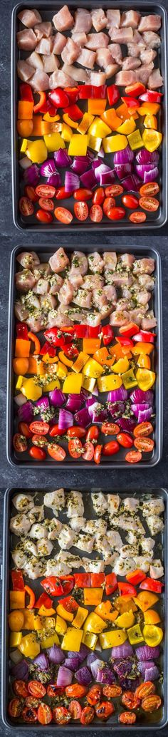 Sheet Pan Greek Chicken & Veggies + Pita Pockets | Gimme Delicious