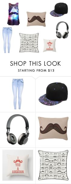 """""""Mustache Time"""" by creepypasta16 on Polyvore featuring Glamorous, Jabra and Dot & Bo"""