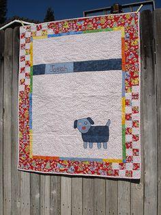 boy dog quilt