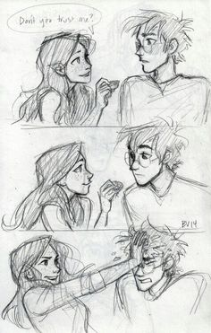 """whoever drew this was dying to put pointed ears on """"ginny"""""""