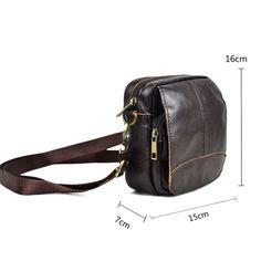 sale men's s 100% natural genuine leather handbags Famous men  casual shoulder bags