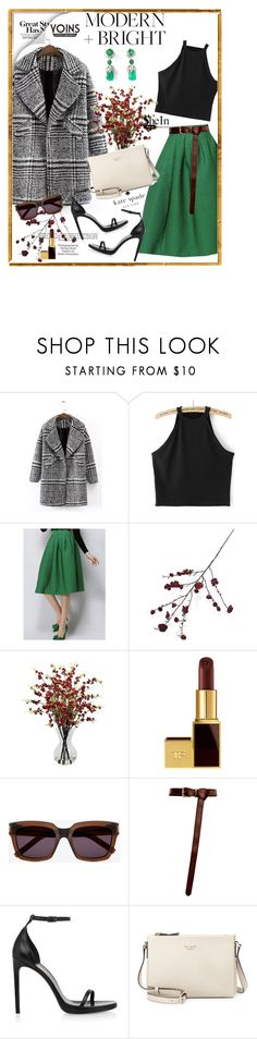 """Na lua o lado escuro é sempre igual...  No espaço a solidão é tão normal...  Desculpe estranho, eu voltei mais puro do céu"" by railda-pereira ❤ liked on Polyvore featuring Industrie, Crate and Barrel, Nearly Natural, Tom Ford, Yves Saint Laurent and Kate Spade"