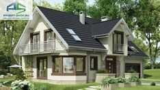 A successful project of a small cozy one and a half story house! Very convenient - BE IN THE TOPIC Modern Bungalow House, Bungalow House Plans, New House Plans, Rustic Houses Exterior, Tiny House Exterior, Beautiful House Plans, Cottage Plan, Cottage Style Homes, Cute House