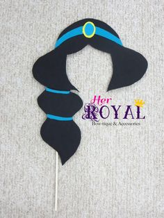 Princess Hair Silhouette Photo Booth Prop by HerRoyalBowtique