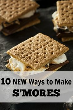 I love making s'mores and these NEW s'more recipes look so amazingly yummy!