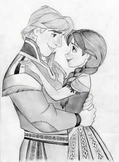 Someone requested I draw art for Kristoff and Anna, so here is a quick one! Like my last sketch, was inspired by the coloring book pages from Disney's F. Kristoff and Anna- Disney's Frozen Couple Disney, Anna Disney, Disney Couples, Disney Fan Art, Disney Love, Disney Frozen, Disney Magic, Frozen Art, Disney Princess Drawings