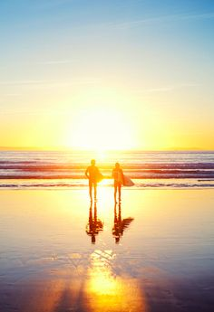 Sunrise surfing:)