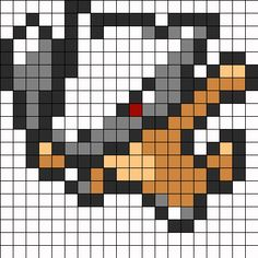 Marowak Pokemon Sprite bead pattern