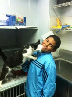 This 10 year old boy saved a cat from bullies. When he saw some boys torturing the cat, he rescued him, took him home and then to a shelter. What an awesome kid. This restores my faith in humanity. Here's hoping the cat gets adopted soon!