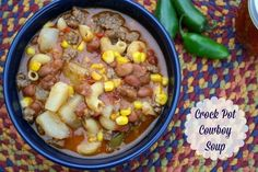 Mommy's Kitchen - Home Cooking & Family Friendly Recipes: Crock Pot Cowboy Soup & A Easy Greasy {Giveaway Closed}