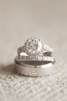 Love the engagement ring! Perfection! Except square