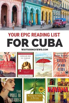 Your epic reading list for books about Cuba. Explore your curiosity or get inspired to visit with these fiction and nonfiction books on Cuba. Literary Travel, Travel Books, Travel Tips, Travel Destinations, Budget Travel, Travel Ideas, Used Books, Books To Read, Cuba Itinerary