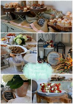 elegant woodland baby shower - All Things Heart and Home