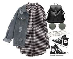 """Sin título #2192"" by alx97 ❤ liked on Polyvore featuring Converse, Coach, Ray-Ban and H&M"
