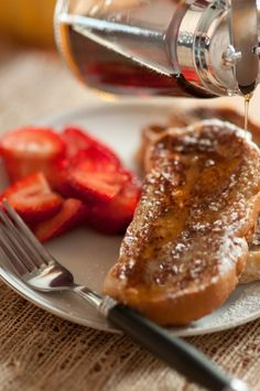 Easy & awesome vegan french toast. Great options for the little people with egg allergies.