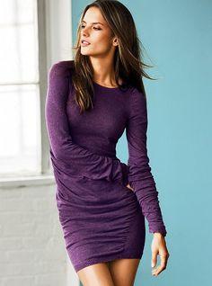 Vestidos suéter de algodón con pliegues - Victoria's Secret