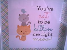 CAT LOVER Wall Hanging Amusing And Adorable by CathysCraftWorld