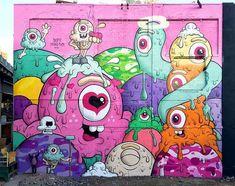 Jersey City, USA: nuovo pezzo dello street artist Buff Monster