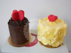 Mini Cakes San Valentin for her, for him