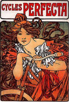 1902 Cycles Perfecta. Alphonse Mucha