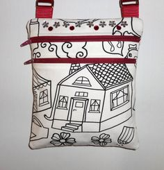 "Cute #handmade #ForKids ""Color Me"" Purse ~ Perfect Mother/Daughter #ValentinesDay Activity!"