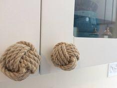 6 Rope Drawer Pulls Nautical Doorknobs Jute Rope