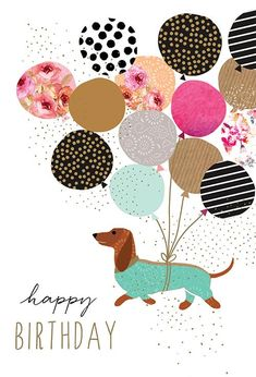 Birthday Wishes Cards, Happy Birthday Quotes, Happy Birthday Images, Happy Birthday Greetings, Aunt Birthday Cards, Happy Birthday With Dogs, Birthday Invitations, Birthday Meme Dog, Happy Birthday Dachshund
