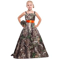 Girls Realtree Gown with Sash